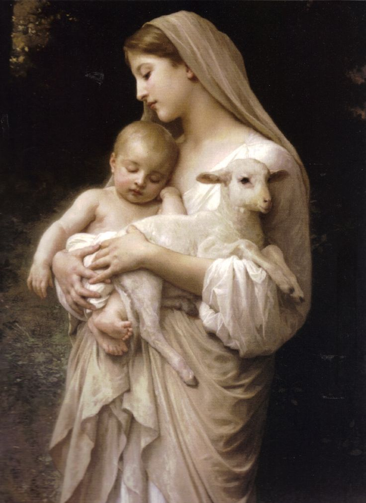 Jesus mother mary india child painting