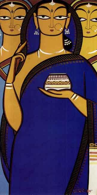 Jamini Roy bengali painting folk art