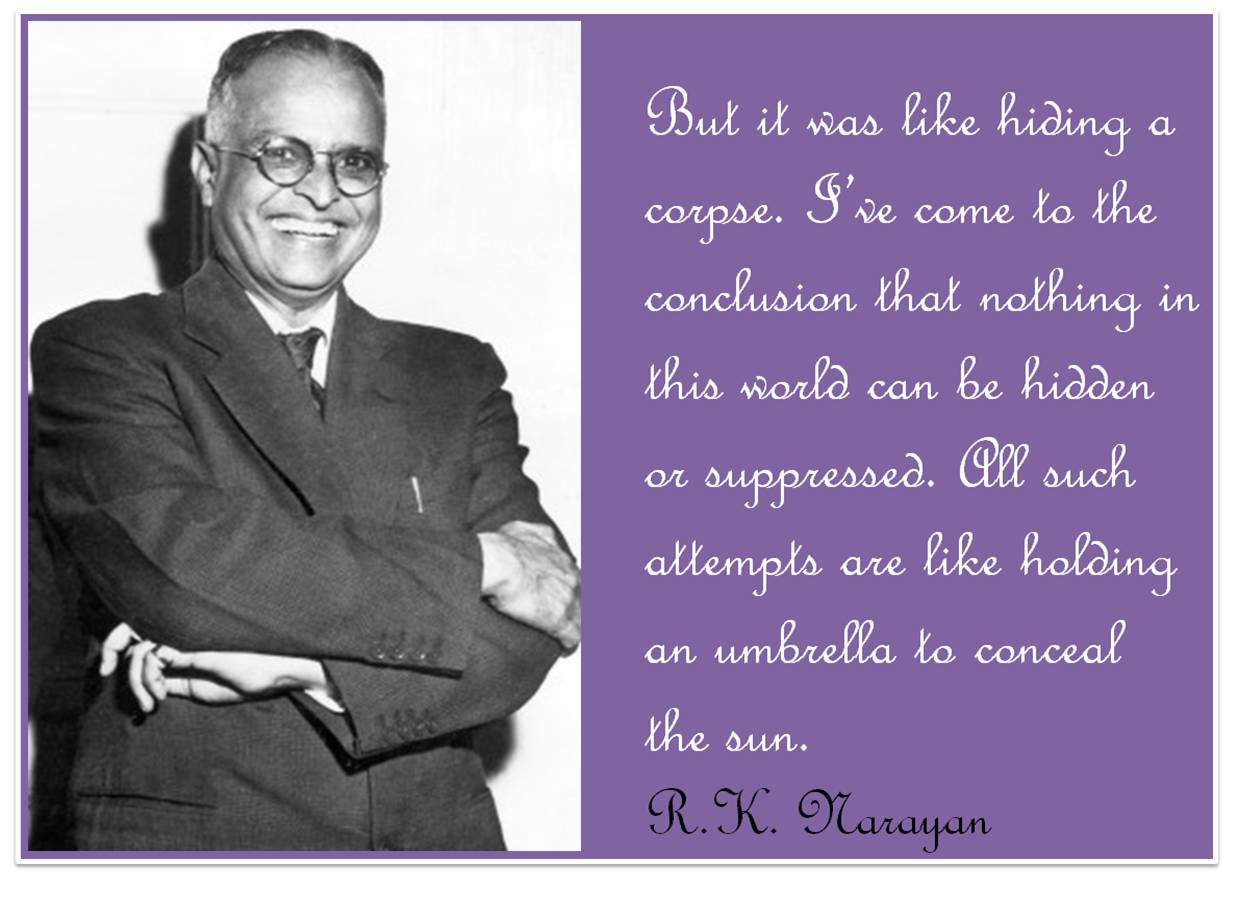 R.K. Narayan quotes from his books
