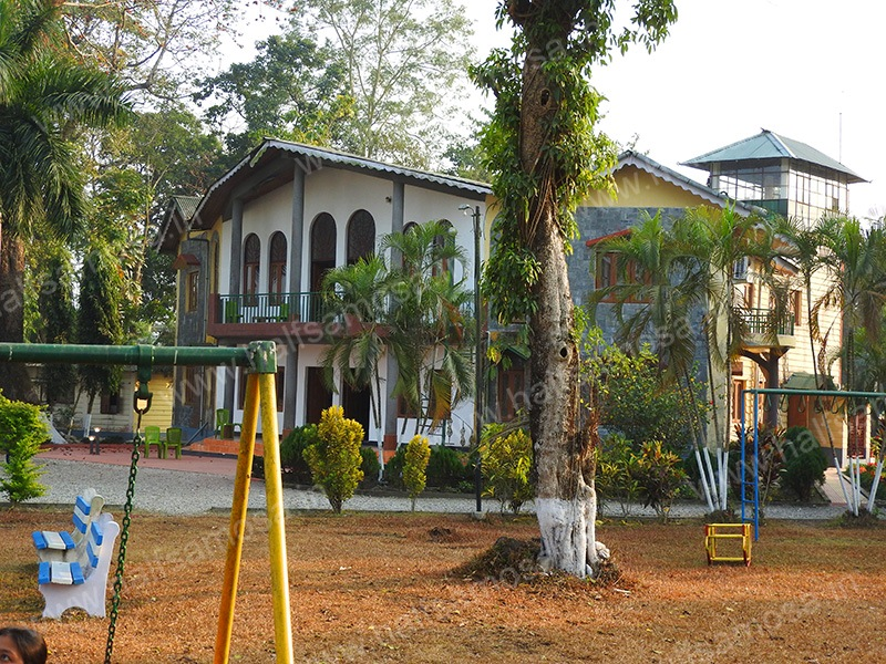 WBFDC Murti Banani main building back view playground