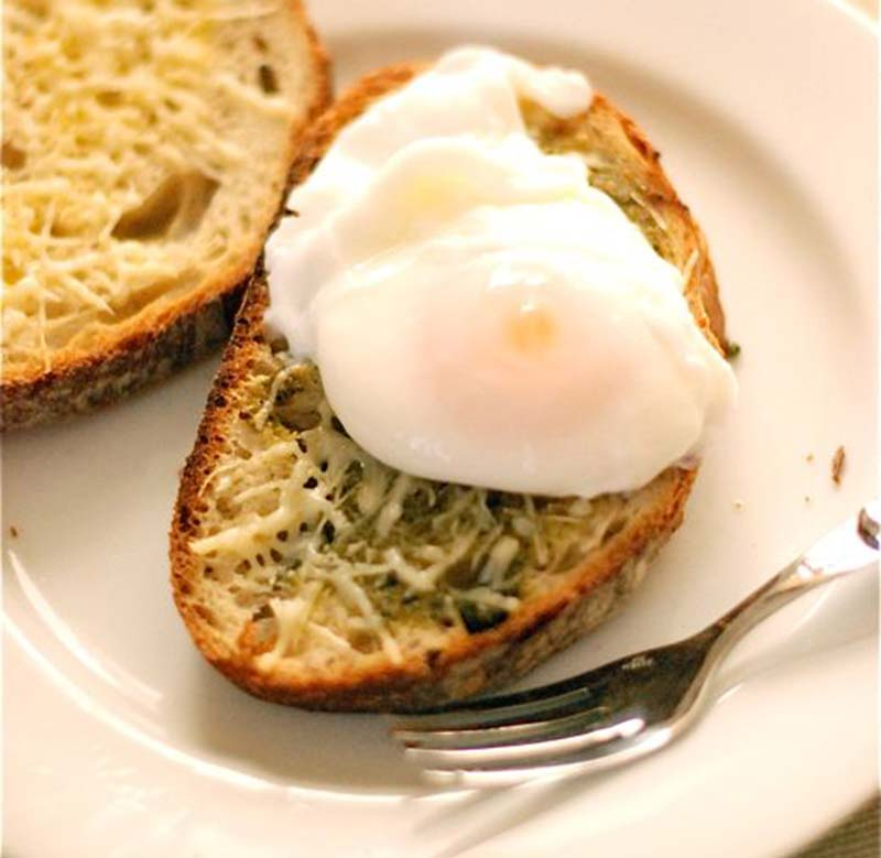 cheese and egg recipe poach toast